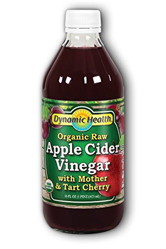 Apple Cider Vinegar w/Mother & Tart Cherry Certified Organic Dynamic Health 16 fl oz (Apple Tart)