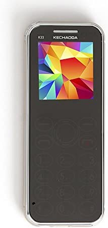 KECHAODA K33 Slim Card Size Dual Sim Phone with External Memory Slot 1.44 inch Display(Gold)