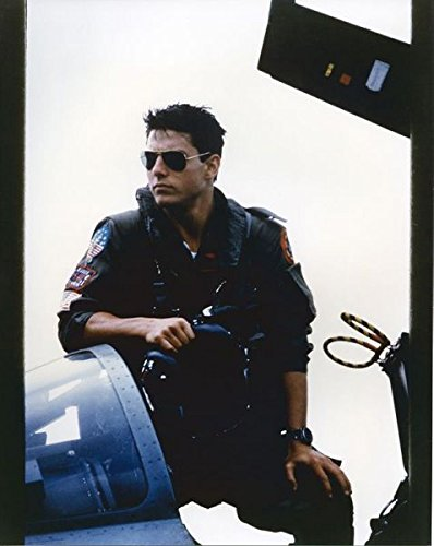 Tom Cruise 8x10 Top Gun Photo Standing in Cockpit of Jet Wearing Shades - Cruise Shades Tom