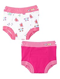 Ez Undeez Baby Girls Toddler Potty Training Pants with Padded Layer