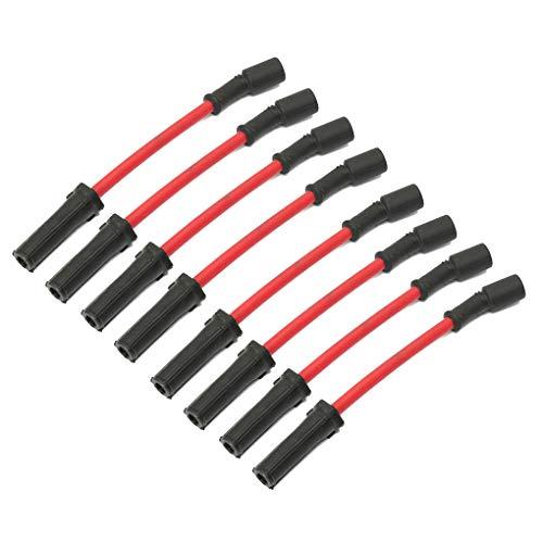 OmkuwlQ 8PCS/Set Performance Spark Plug Wires Replacement for Chevy GMC LS1 VORTEC 4.8L 5.3L 6.0L 1999-2006