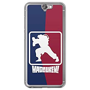 Loud Universe HTC One A9 Street Fighter Nba Type Haduken Printed Transparent Edge Case, Blue/Red