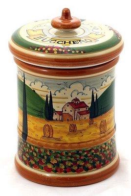 PAESAGGIO TOSCANA: Large Canister 'Zucchero' [Sugar] [#P48-PAE] (Biscotti Toscana)