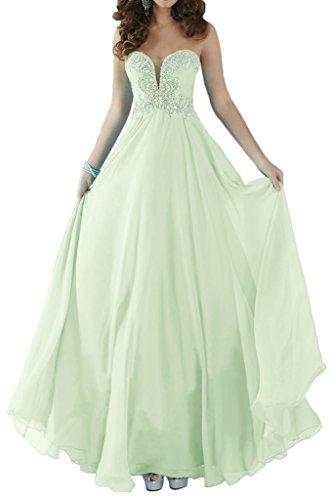 Robe De Bal Avril Fête Glamour Sweetheart Empire En Mousseline De Soie Sage Robe Longue