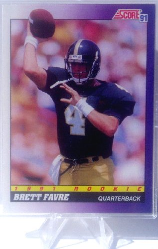 Brett Favre 1991 Score Near Mint To Mint Condition Rookie Card 611 Shipped In Protective Screw Down Holder