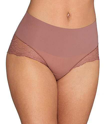(SPANX Undie-Tectable Lace Hipster, S, Cocoa Blush)