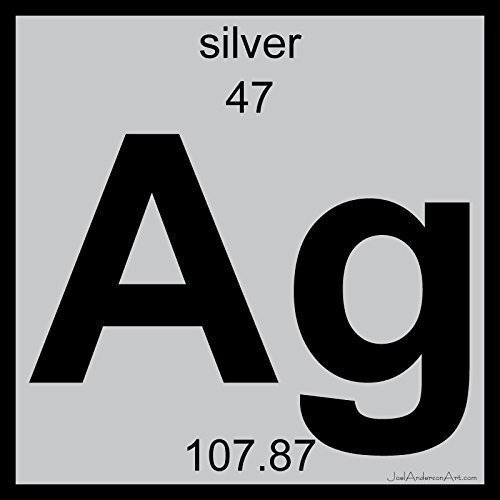 Amazon ag silver art tile print of periodic table elements ag silver art tile print of periodic table elements urtaz