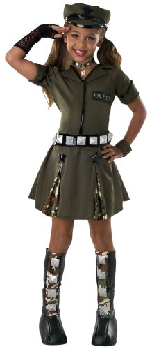 [Drama Queens Child's Major Flirt Costume, Medium] (Military Costumes For Teens)