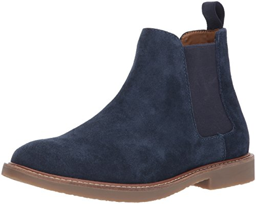 Steve Madden Men's Highline Chelsea Boot, Navy Suede, 9.5 US/US Size Conversion M US