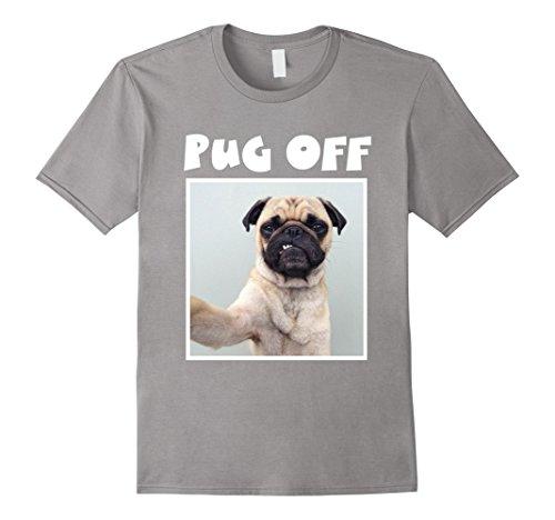 Mens Pug Off T-Shirt 2XL Slate (Pug T-shirt Off)