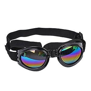 Baishitop Water-Proof Multi-Color Pet Sunglasses Goggles 13.22 lbs above Dog Sunglasses (Black)