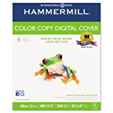 Copier Digital Cover Stock, 60 lbs., 8 1/2 x 11, Photo White, 250 Sheets, Total 10 PK, Sold as 1 Carton