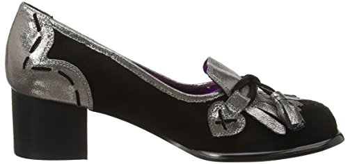 Escarpins Jones Noir Pewter Irregular Choice fermé Bout by Betty Femme C Licence Poetic Ywqp66