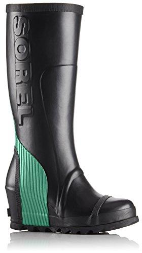 Wedge Tall Bright 10 Boot Joan 5 Emerald Women's Rain Black SOREL pwqgaWOT
