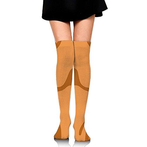 Rheumatology Fracture Center Carrot Casual Crew Top Socks,Tube Over Knee Nursing Compression Long Socks,3D Printed Sports For Girls&Women