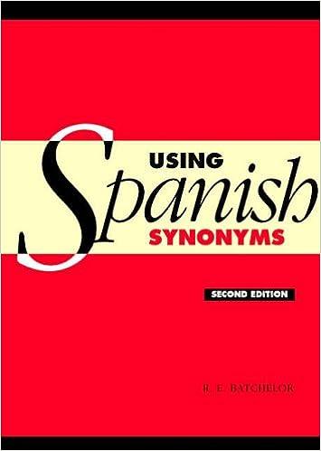Using Spanish Synonyms 2ed: Amazon co uk: R  E  Batchelor