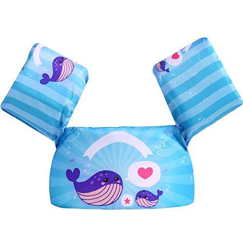 Puoyis Toddler Kids Swim Life Vest,Baby Swim Float Jacket Swimming Training Life Jacket,Kids Flotation Device,Swim Aid Floater,30-50 lbs (Whale)