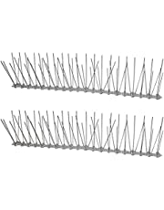 Cabilock 2pcs Plastic Bird Spikes Metal Roof Guard Pigeon Prevention Rodent Deterrent Animal and Supplies Mailbox Window