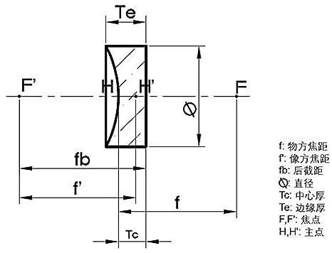 f:-125.0mm Optical lens Flat concave lens dia:38.1mm KPA-309 K9 Plano concave lens