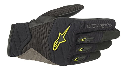 - Shore Motorcycle Street Riding Glove (XL, Black Yellow Fluo)