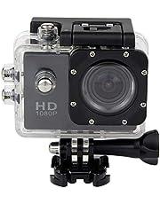 كاميرا مقاومة للماء بلون اسود للرياضات المائية الغوص الكامل اتش دي دي في ار 30 متر للماء 1080 بكسل جي سينور