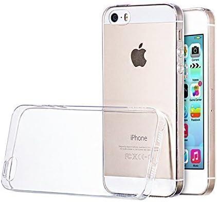 TecHERE UltraCase - Custodia Cover Ultra Trasparente e Leggera per Apple iPhone SE iPhone 5s / 5 in Morbido Silicone di Alta qualità - Pellicola ...