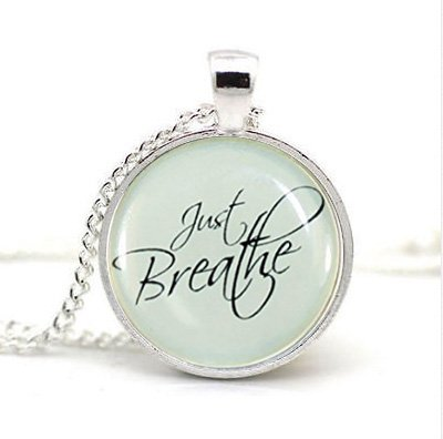Breathe Necklace Inspirational Quote Pendant product image