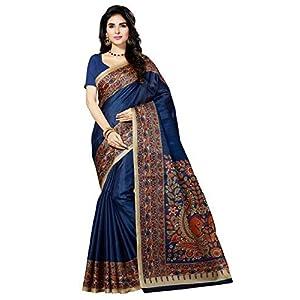 Rani Saahiba Women's Art Silk Saree with Blouse Piece