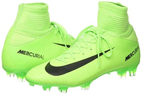 NIKE Kids Mercurial Superfly V FG Electric Green/Black/Flash Lime Soccer Shoes - 4Y - Image 5