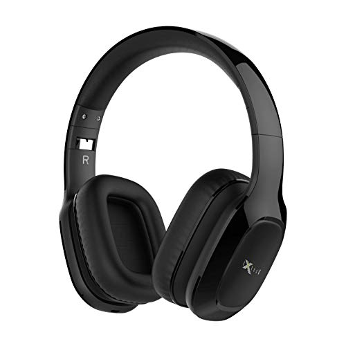 i-Xtech IX-E09 Bluetooth Headphones, Stereo Wireless Headsets Over Ear,Foldable Arm,Heavy Bass,Soft and Comfortable - Slider Retractable Step