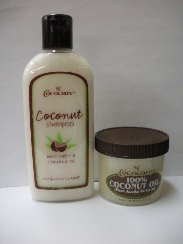 Cococare Coconut Combo Shampoo 8.5oz + 100% Coconut Oil 4oz with Nail File