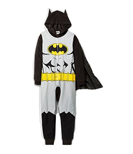 Joker Costumes Union Suit (BATMAN Boy's Size Medium 8 Caped Union Suit Fleece Hooded Pajama Sleeper)
