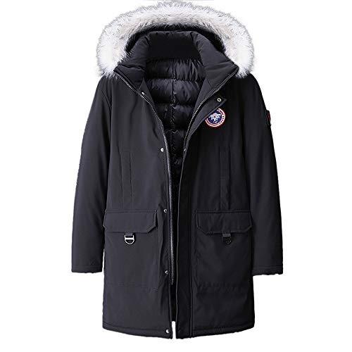 YKARITIANNA Men's Jackets & Coats, 2019 Spring New Fleece Autumn Winter Plus Size Hooded Thicken Cotton Coat Black