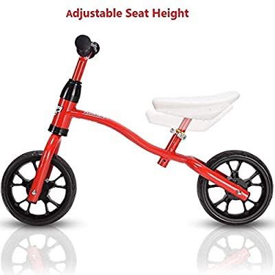 Red No Pedal Bike for Kids | Adjustable Balance Bike for 3,4,5,6+ Year Old | Lightweight Balance Bike for Toddlers and Kids | Perfect Kids Balance Bike for Indoor & Outdoor Use: Sports & Outdoors