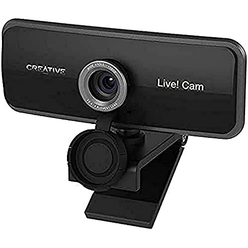 Creative Live! Cam Sync 1080p Full HD Wide-angle USB Webcam with Dual Built-in Mic, Privacy Lens Cap
