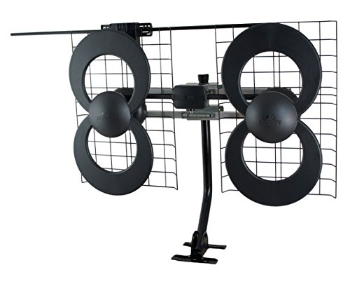 - ClearStream 4V Indoor/Outdoor HDTV Antenna with Mount - 70 Mile Range