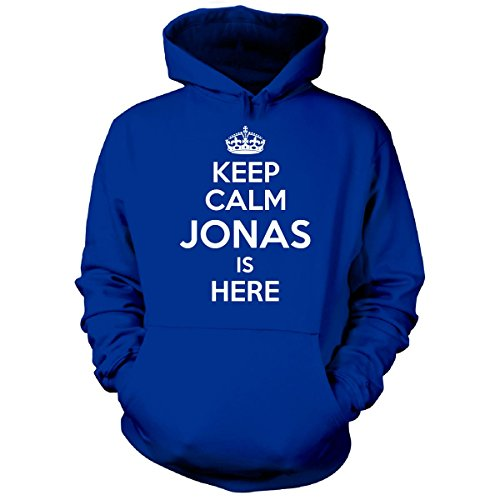 Keep Calm Jonas Is Here Cool Gift - Hoodie Royal - Hoodie Jonas Brothers