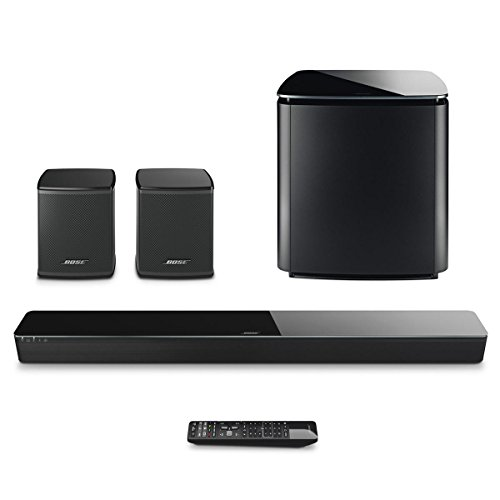 Bose SoundTouch 300 Soundbar Bundle with Wireless Acoustimass 300 Bass Module & Bose Virtually Invisible 300 Wireless Surround Speakers (without Soundbar Bracket)