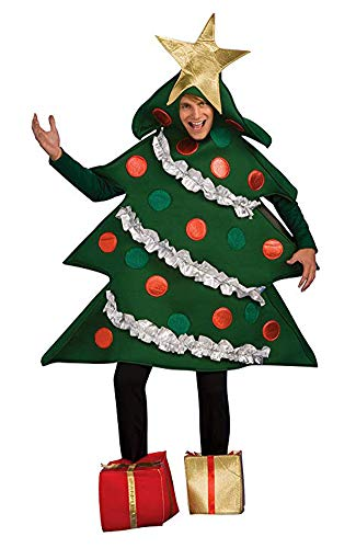 Halloween Costume Tree Man (Rubie's Women's Christmas Tree Jumper Costume with Present Boot Tops, As As Shown,)
