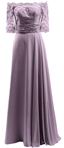 Chiffon the Off Sleeve Dress Wisteria Shoulder Evening Prom Lace Formal Half MACloth Gown fR8gw