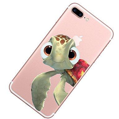 Fundas y estuches para teléfonos móviles, Caso para el iphone de la manzana 7 7 más el patrón de las tortugas de la cubierta del caso pintó la alta caja suave material del teléfono ( Modelos Compatibl IPhone X