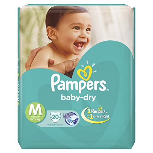 Pampers Baby Dry Tape Diapers Medium M Size 20 Pieces