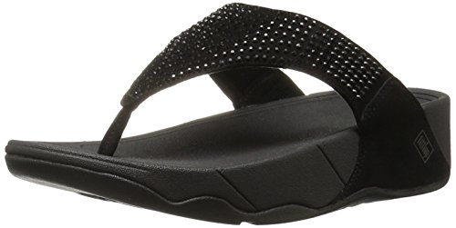 FitFlop Womens's Rokkit Flip Flop,Black Diamond,7 M US by FitFlop