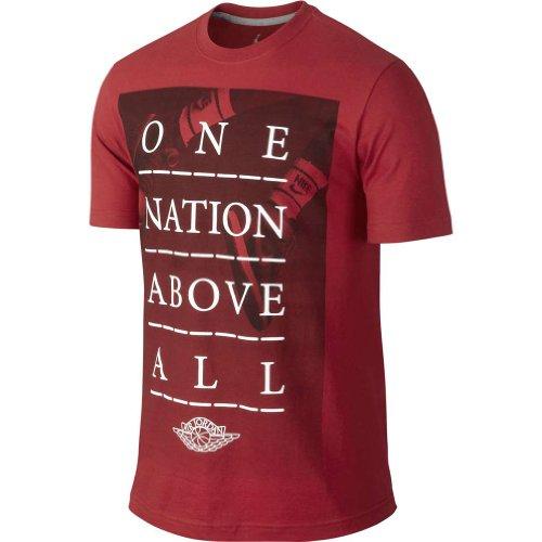 nera Nation rossa Nike T da rossa Above Aj One One uomo shirt 0IxP5Inqr1