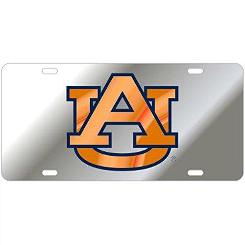 License Auburn Tigers Logo Plate - Auburn Tigers Mirror Laser Cut License Plate - Orange