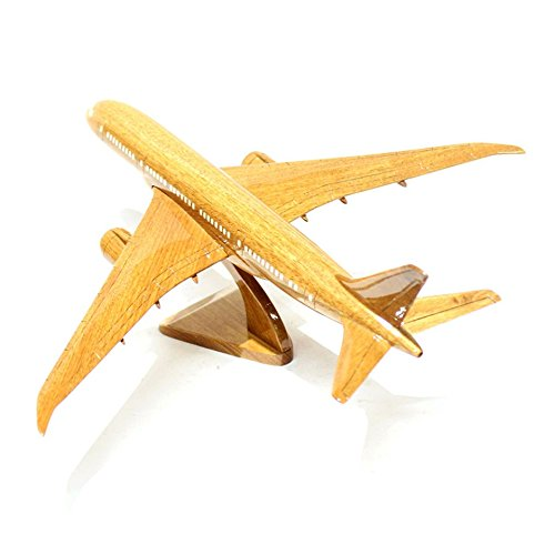 Shopping Zone Plus Boeing 787 Wooden Airplane Model (Small), The Model Plane Includes Desk Stand
