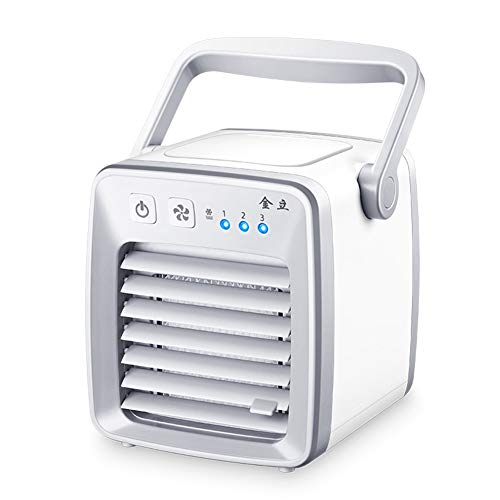 LUCKYYAN Air Cooler, Personal Space Portable Mute Air Conditioner Fan, USB Desktop Mini Evaporative Air Cooler Humidifier & Purifier For Office Home Outdoor Travel by LUCKYYAN