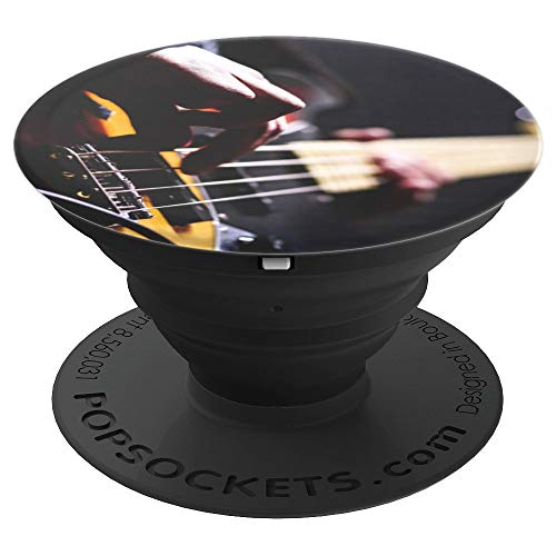 Cool Bass Guitar Frets & Strings Gift Grip for Music Lovers - PopSockets Grip and Stand for Phones and Tablets
