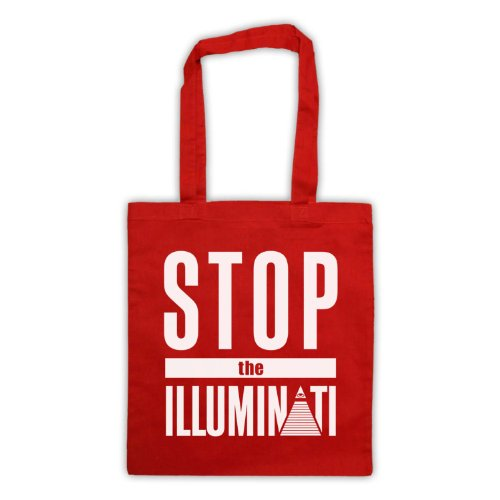 Rosso amp; Slogan My tavola Stop Icon The Art Illuminati Bag Da Clothing Tote qqUE7z