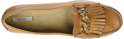 Beige A Geox caramel Elidia D Mujer Mocasines Para EqY6q